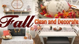 🍁 FALL CLEAN AND DECORATE WITH ME 2019 | FALL FARMHOUSE DECOR 🍂