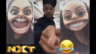 NXT's Iconic Duo (Billie Kay & Peyton Royce) Annoying Kenta (Hideo Itami) *FUNNY*