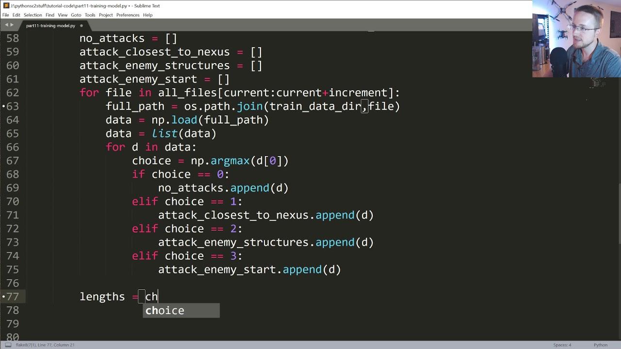 Training Neural Network - Python AI in StarCraft II tutorial p 11