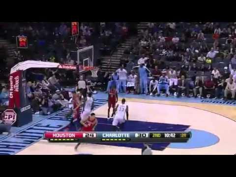 Brendan Gets the REJECTION   Houston Rockets Vs Charlotte Bobcats   01   21   2013   NBA 2012   13 S