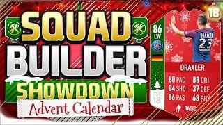 One of RossiHD's most viewed videos: FIFA 18 SQUAD BUILDER SHOWDOWN!!! FUTMAS DRAXLER!!! Advent Calendar Day 18 Vs AJ3