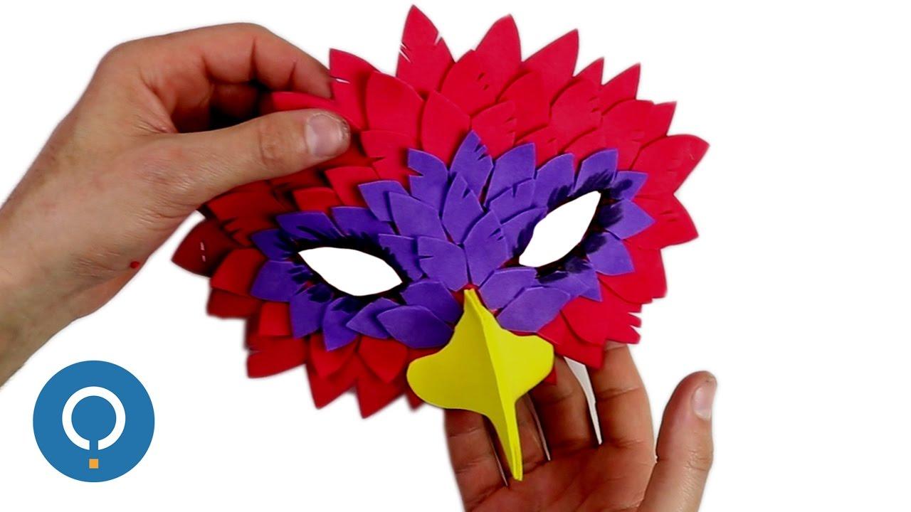 Masque d 39 oiseau fabriquer soi m me youtube - Masque oiseau a imprimer ...