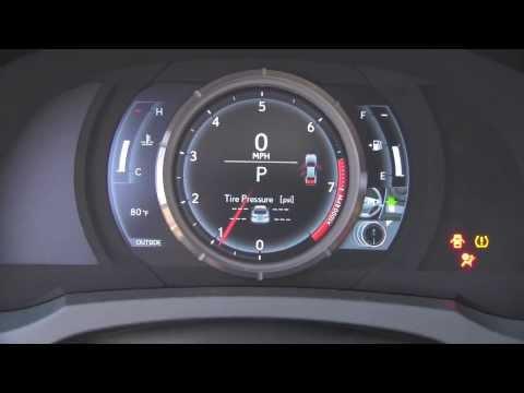 2014 Lexus IS F-Sport LCD Gauges
