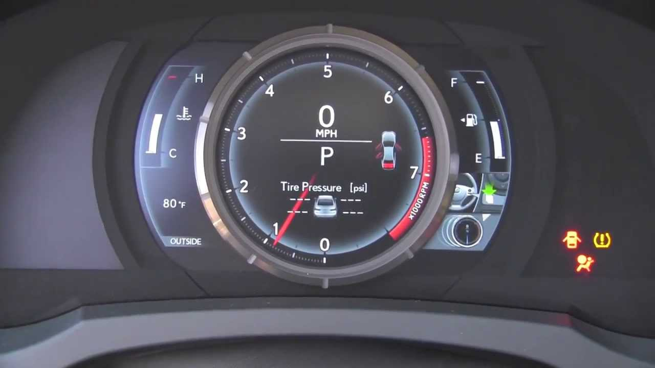 2014 Lexus Is F Sport Lcd Gauges Youtube
