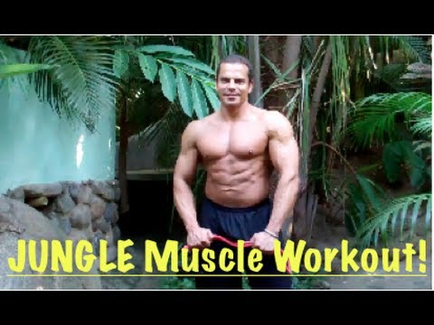 Jungle Muscle SHOULDER Workout - Get Buff Just Like Tarzan!