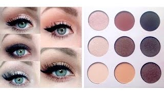 5 Eyeshadow Ideas | Using Shaaanxo Bh Cosmetics Palette