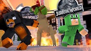 Minecraft SCHOOL - SECRET UNDERGROUND WORLD IN JURASSIC PARK - Donut the Dog Minecraft Roleplay