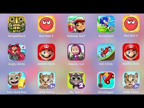 Mario,RedBall4,MyTom,LittleKitten,TomRun,Sonic,HillClimb,Subway,Temple,Angry Birds,DinoDigger,Masha