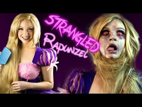 STRANGLED RAPUNZEL Makeup Tutorial - Glam & Gore Disney Princess