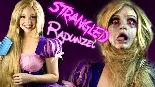 STRANGLED RAPUNZEL Makeup Tutorial - Glam & Gore Disney Princess