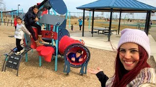 Family Fun Day at the Playground and Restaurant Vlog