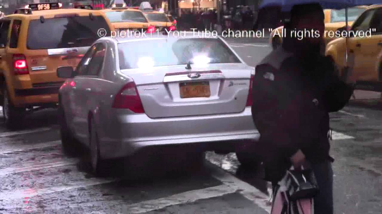 Nypd Unmarked Ford Fusion New York Police Car Traffic Stop