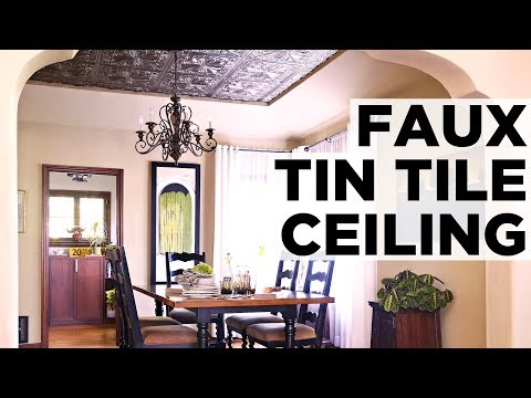How to Install a Faux Tin Ceiling - HGTV