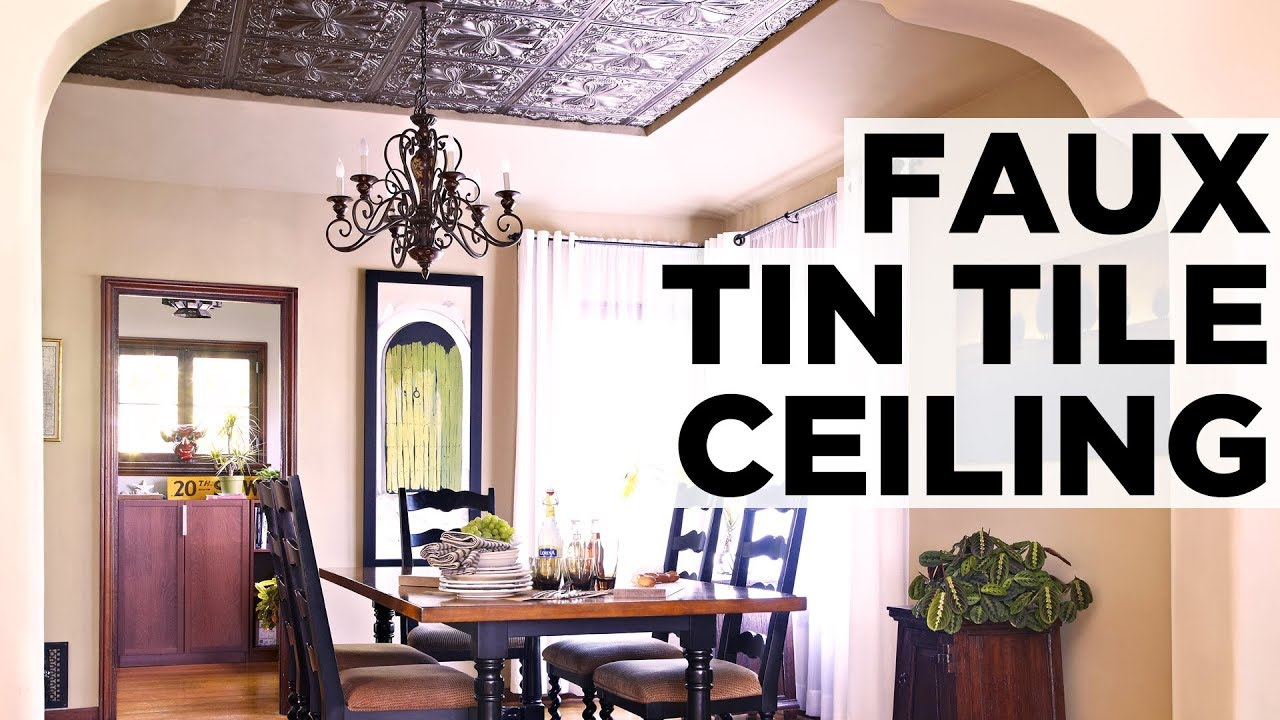 How to install a faux tin ceiling hgtv youtube how to install a faux tin ceiling hgtv dailygadgetfo Gallery