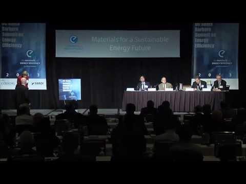 Critical Materials for Energy Technologies - 2013 UC Santa Barbara Summit on Energy Efficiency