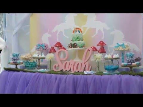 Unicorn Garden Party via Little Wish Parties childrens party blog