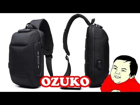 РЮКЗАК OZUKO Chest Bag USB External Charging Anti Theft Crossbody Bag из Banggood  ZTD #577