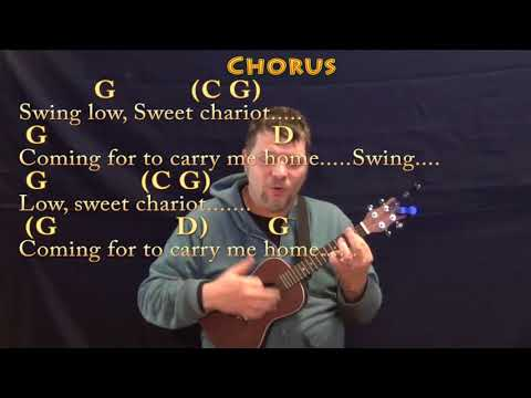 Swing Low, Sweet Chariot (Spiritual) Ukulele Cover Lesson in G with Chords/Lyrics