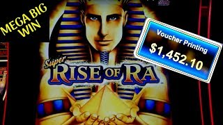 Super Rise Of Ra Slot Machine Max Bet Bonus MEGA BIG WIN | Better Than Handpay Jackpot