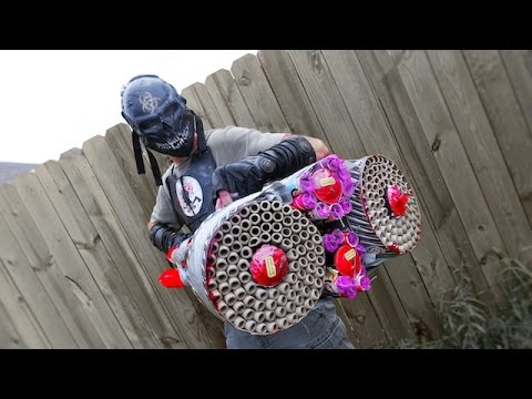 CRAZIEST FIREWORKS LAUNCHER EVER MADE! 1500 FIREBALLS!