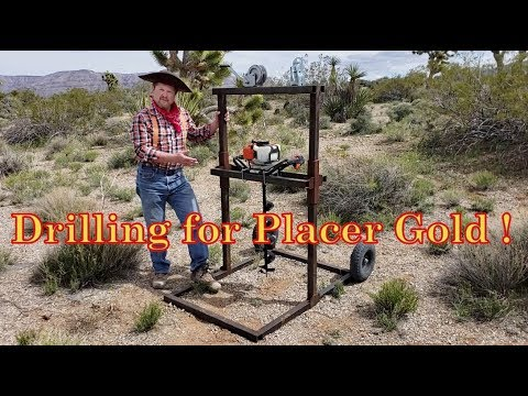 Allan's Gold Mining - Drilling for Placer Gold !!