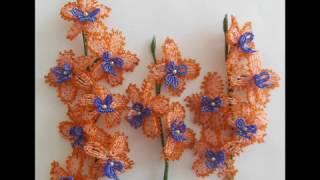 Бисероплетение.   Урок № 1. Технология изготовления персиковой орхидеи  с красивой каймой.