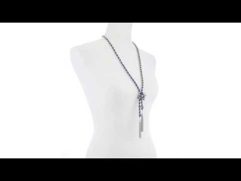 GUESS Woven Chain Know Lariat 32 Necklace inch SKU:8395088