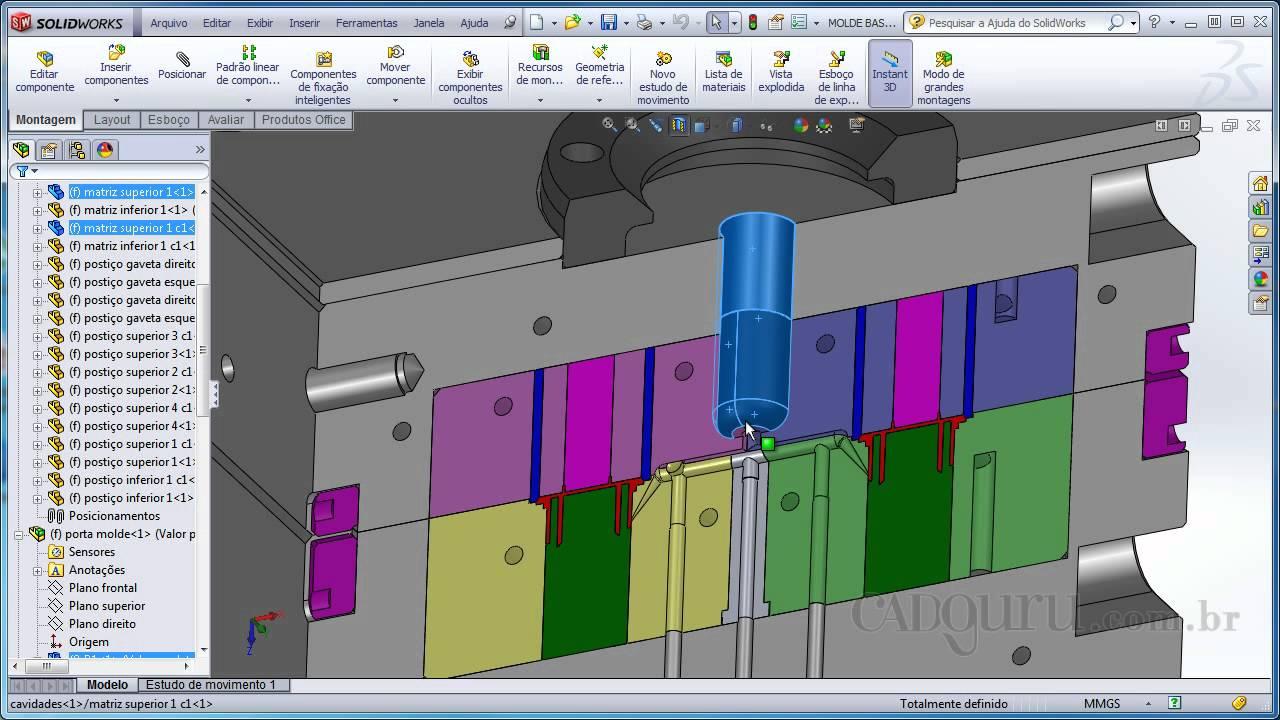 Inje o de componente pl stico curso solidworks 2012 - Plastico para moldes ...