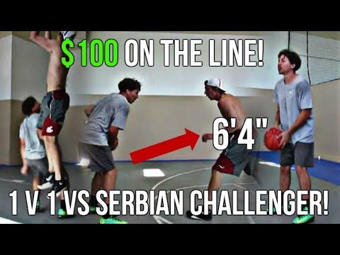 "1 V 1 vs. 6'4"" Challenger! $100 On The Line!"