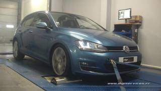 VW Golf 7 1.4 tsi 140cv DSG Reprogrammation Moteur @ 166cv Digiservices Paris 77 Dyno