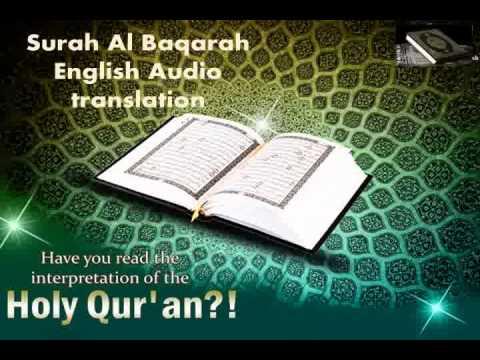 Listen to the beautiful Quran-Arabic and English -surah Al Baqarah
