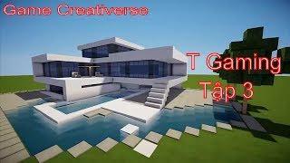 Game Creativerse : Xây Nhà gỗ Hiện Đại Triệu Đô Nào Anh Em Ơi l Bình Luận Game l T Gaming
