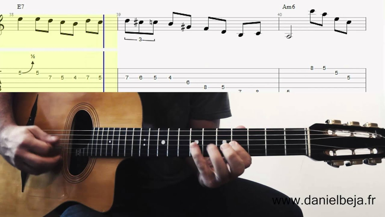 grappelli solo on guitar minor swing with loop control