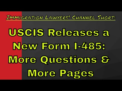 UPDATE: New USCIS Form I-485, Application for Adjustment of Status