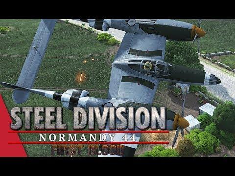 FIRST BLOOD UPDATE - 5th APT Round 1! Steel Division: Normandy 44 - YueJin vs Inhari (Côte 112, 1v1)