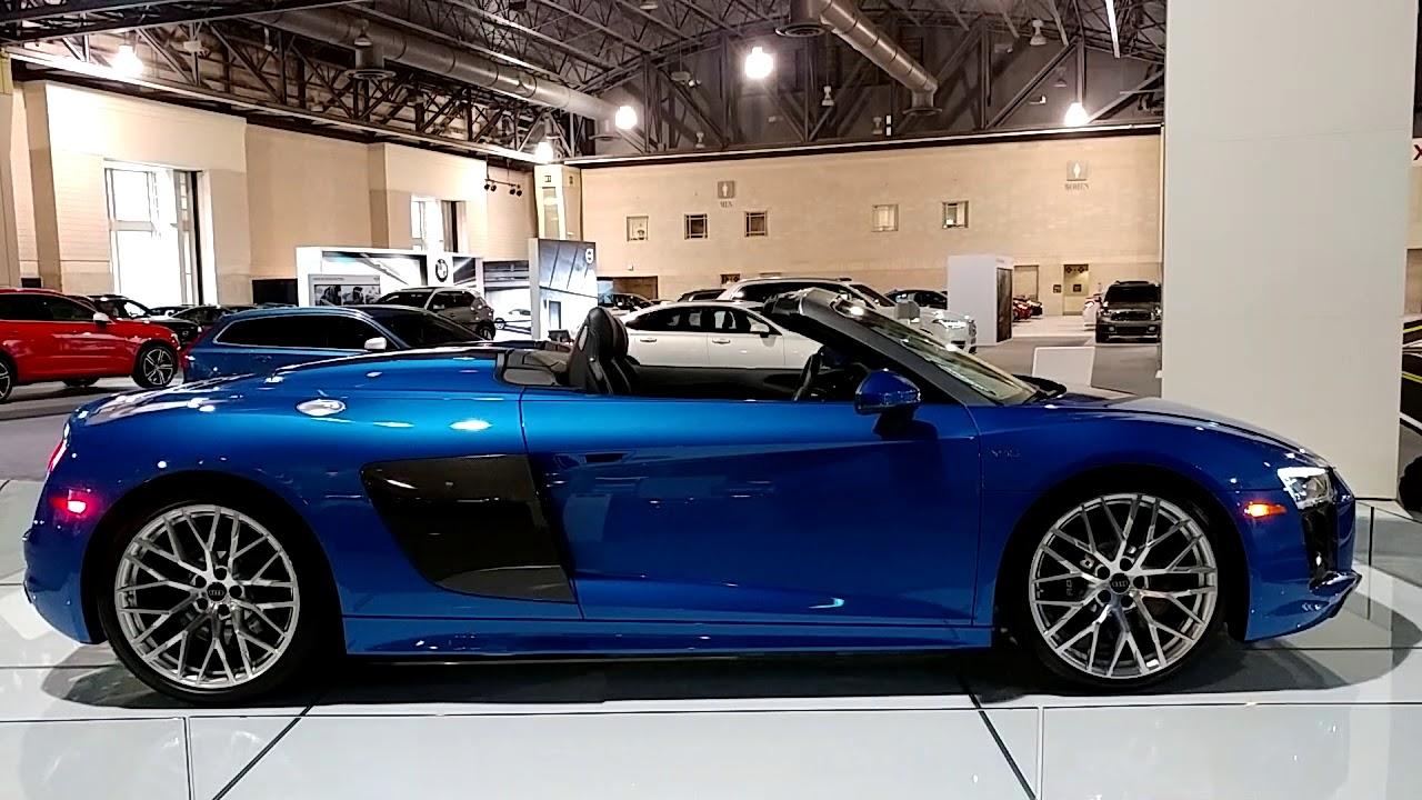 METALLIC BLUE AUDI R V QUATTRO SPYDER CONVERTIBLE - Philadelphia convention center car show