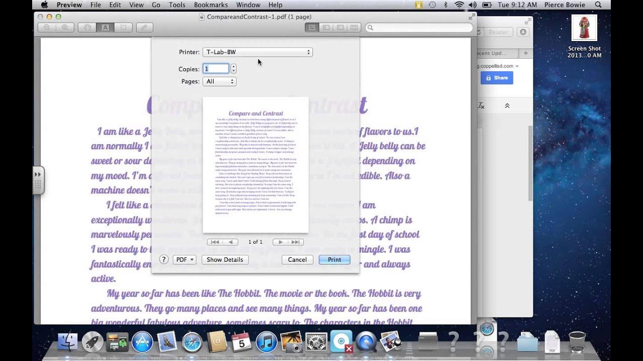 How to Print Google Doc on Mac