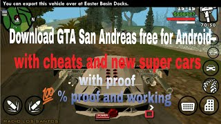 How to download GTA San Andreas free for Android..100% working..with proof