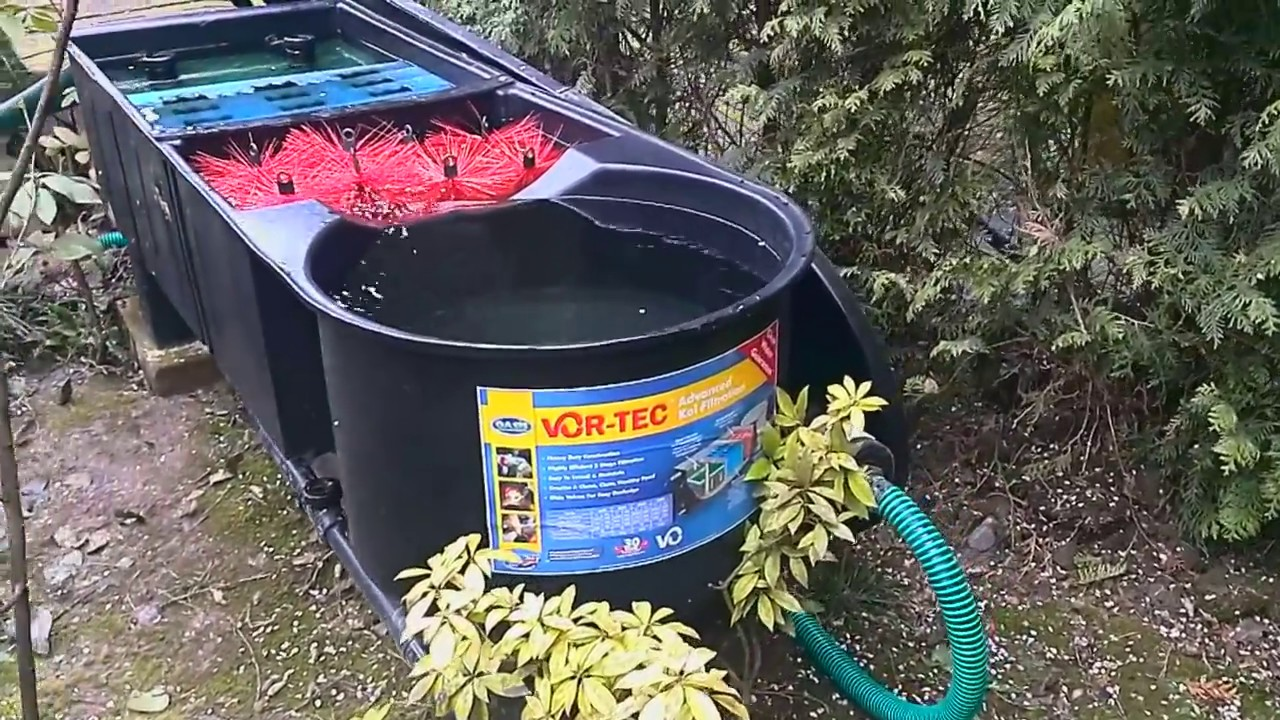 Oasis vor tec 30000 koi pond filter youtube for Fish pond filters for sale