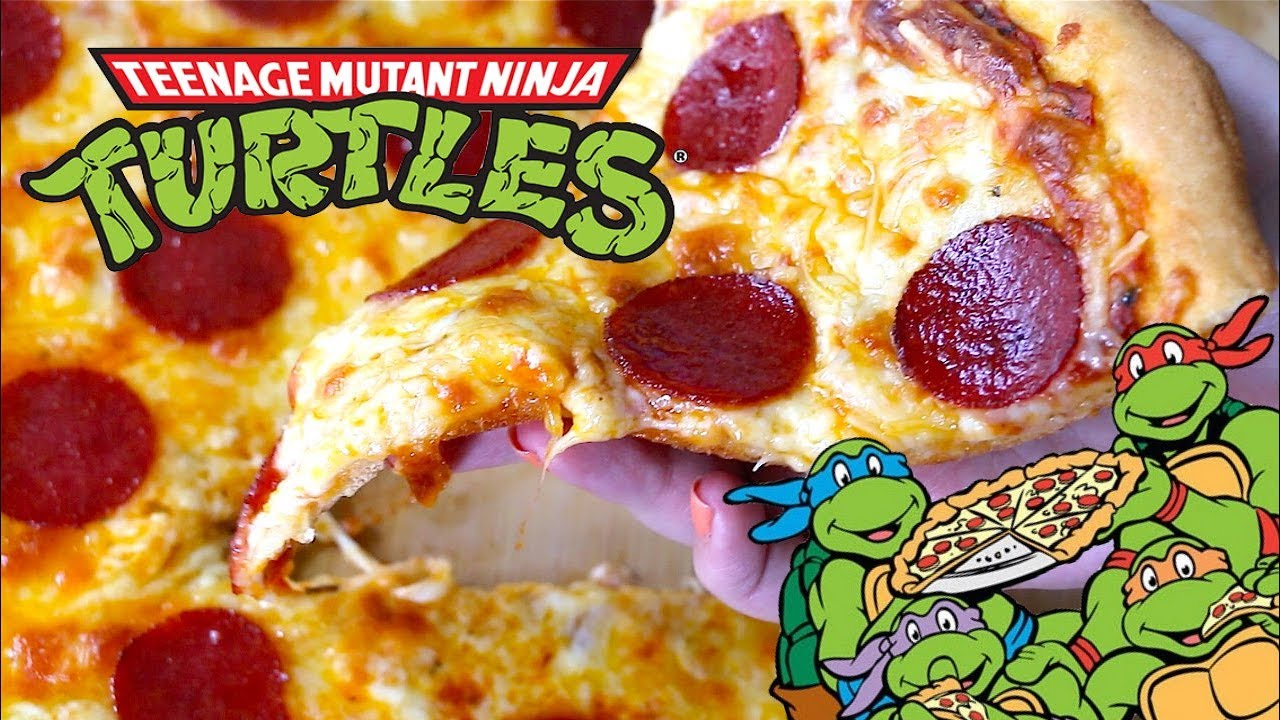 RECETTE PIZZA TORTUES NINJA I TMNT PIZZA RECIPE 🍕 [eng/fr Subs]