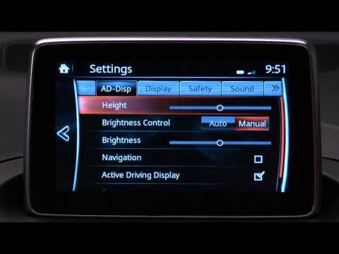 Mazda3 Infotainment Settings Youtube