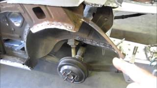 1965 Mustang trunk pan install and initial fitment of quarter panel. Mystique part 5
