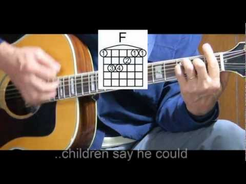 How to Play Frosty the Snowman - Learn Christmas Songs on Guitar - Easy Guitar Lessons
