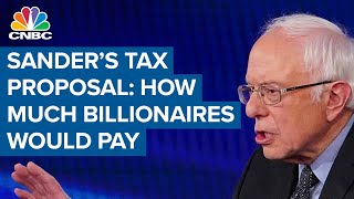 Here's how much billionaires would pay under Bernie Sanders' one-time tax proposal