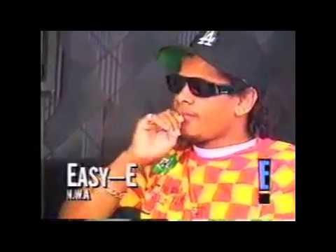 Eazy-E NWA Interview With E! News 1991 Promoting Niggaz4Life Album