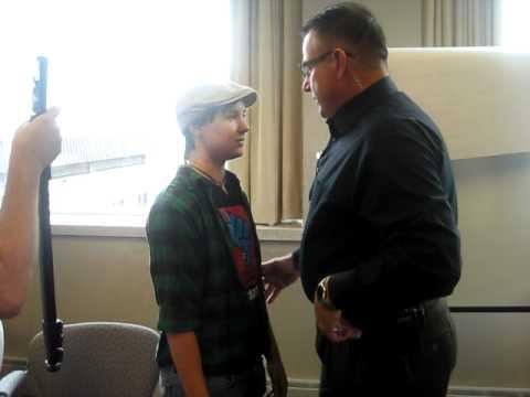 David Erwin grabbing at young woman at Pyle Center