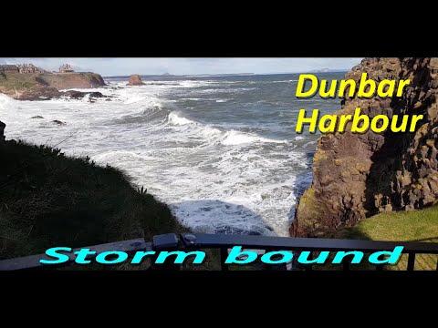 Dunbar harbour Storm bound