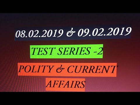 TEST SERIES -2 - POLITY - CURENT AFFAIRS - 동영상