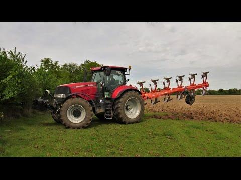 Labour et hersage pour préparation de maïs 2017 Case 230/240
