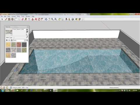 Make Basic Swimming Pool with Enviorment - Google Sketchup